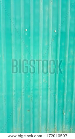 Green zinc wall and background green zine