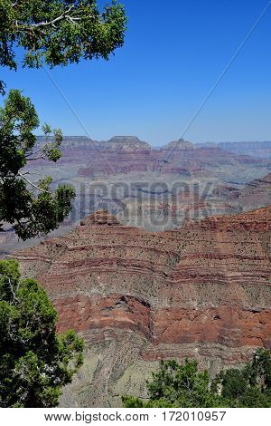 Arizona USA - july 7 2016 : the picturesque canyon in summer