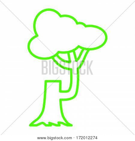 simple thin line felled tree icon vector