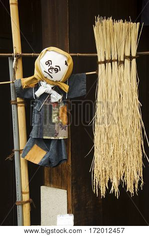 Scarecrows Japanese Style For Show People At Kawagoe Or Kawagoe Little Edo