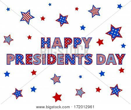 Happy Presidents Day Greetings isolated on white