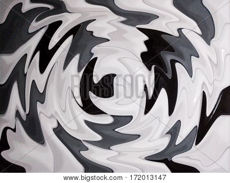 Black and white circle curve abstract background
