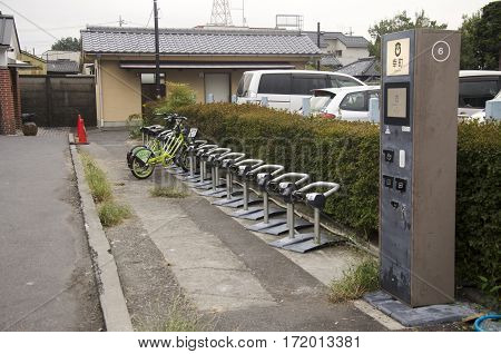 Vending Machine Meter Of Car And Bicycle Parking For People Use At Kawagoe Town