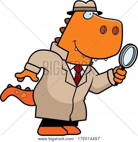 Cartoon Dinosaur Detective