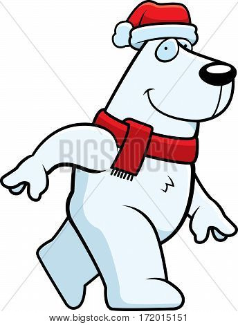 Cartoon Christmas Polar Bear