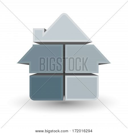 Symbol house vector design for business construction