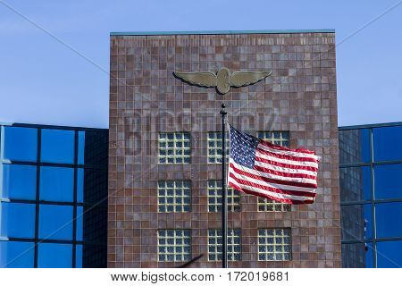 Indianapolis - Circa February 2017: The Administration Building At Indianapolis Motor Speedway. Ims