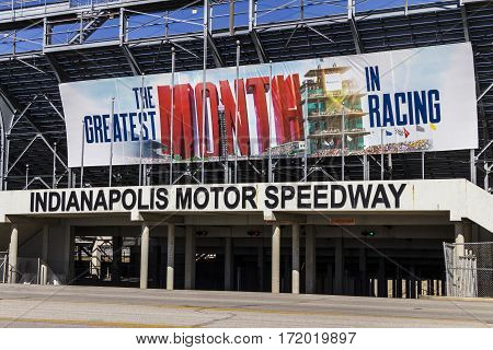 Indianapolis - Circa February 2017: Gate Two Entrance at Indianapolis Motor Speedway. IMS Prepares for the 101st Running of the Indy 500 VI