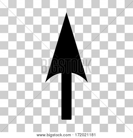 Arrow Axis Y vector pictogram. Illustration style is flat iconic black symbol on a transparent background.