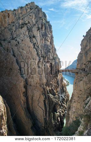 the final bridge crossing at El Camino Del Rey