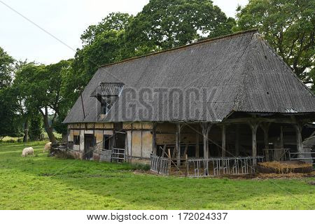 La Neuville Chant d Oisel France - june 22 2016 : an old farm in the countryside