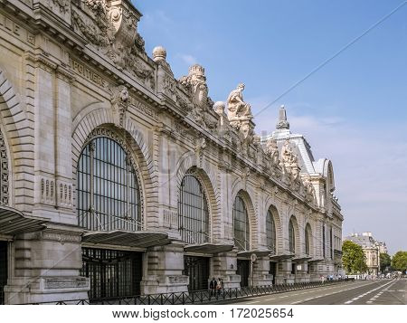 PARIS, FRANCE - 25 AUGUST, 2013 - Exterior of the d'Orsay Museum, Paris, France