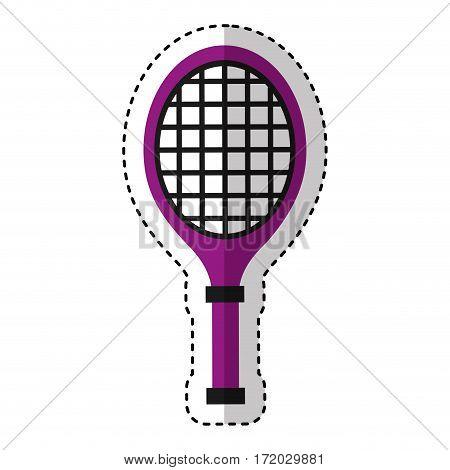 tennis racket isolated icon vector illustration design