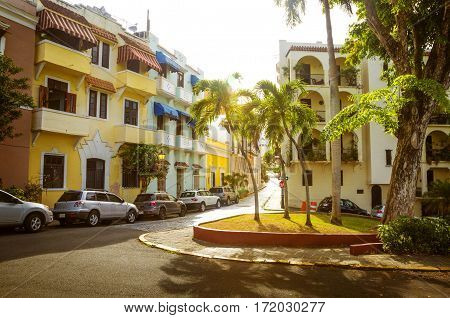 Street of Old San Juan in Puerto Rico