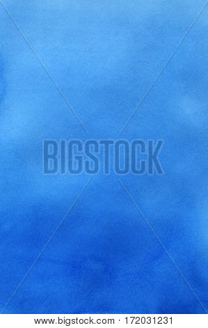 Watercolor background for textures. Abstract watercolor background. Blue color gradient