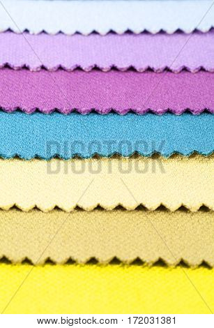 Background of colorful stripes of cotton fabric texture
