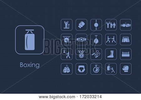It is a set of boxing simple web icons