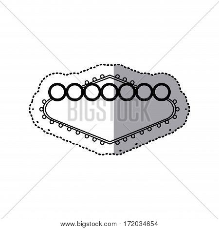 sticker silhouette banner billboard icon design vector illustration