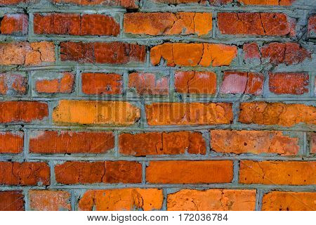 old red brickwork abstract background
