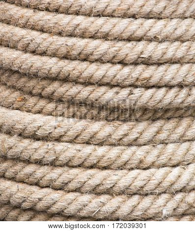 Coil of rope background market in Vietnam