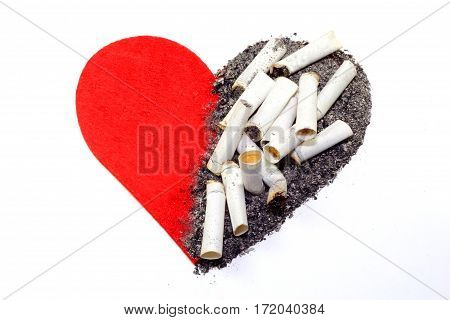 Smoking may kill your heart. Break it now.