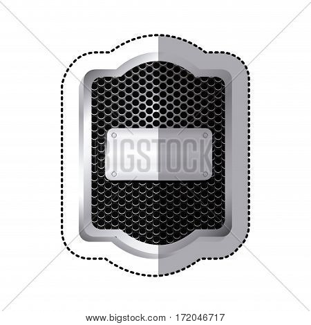 emblem plaque inside shield icon, vector illustration