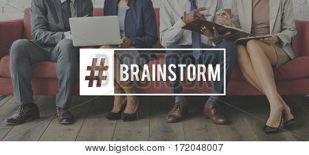 Meeting Business Colleagues Brainstorm Word