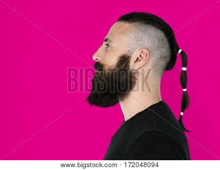 Caucasian Man Side View Style