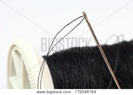 Needle and thread photo for your various projects.