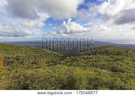 A tropical valley in Cuba somewhere in Santa Clara