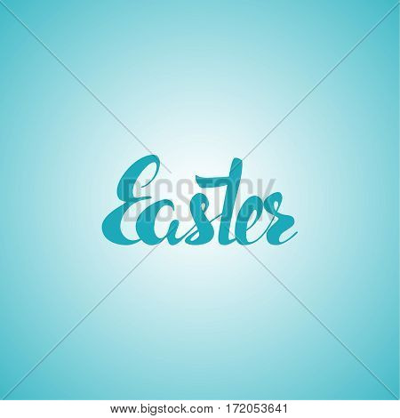 Easter inscription. Vector calligraphy isolated. Hand drawn  lettering. Typography for greeting card, banner, poster. Easter  background