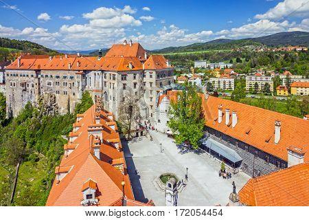 Cesky Krumlov castle, Czech Republic European architecture.