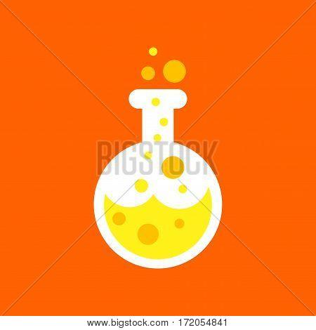 flat icon on stylish background halloween potion bottle