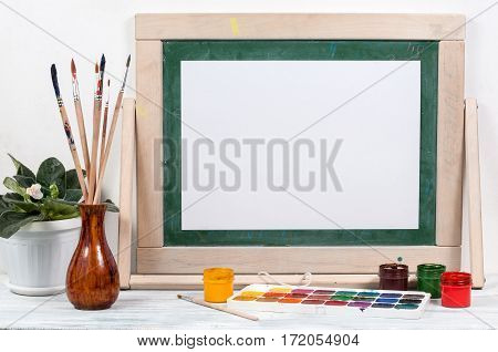 Frame For Painting On A Wooden Table