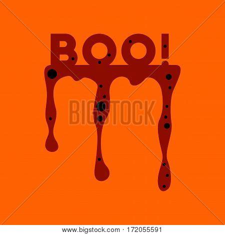 flat icon on stylish background halloween boo
