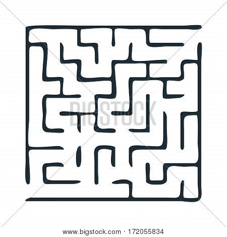Vector crooked line labyrinth. Maze or Labyrinth. Vector illustration.