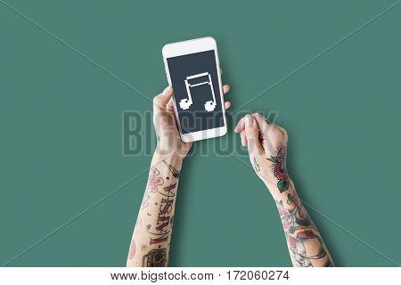 Music Note Rhythm Audio Beat Icon