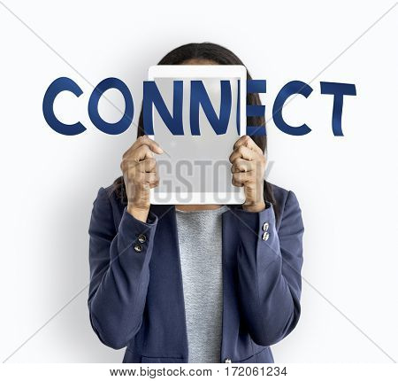 Connect Social Media Communication Words