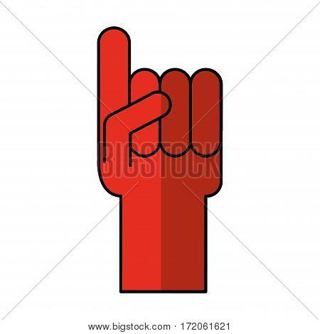 glove sport number one vector illustration design