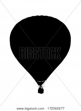 Illustration of a hot air ballon flying in the sky