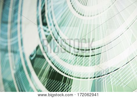 Abstract modern technology background light green colors