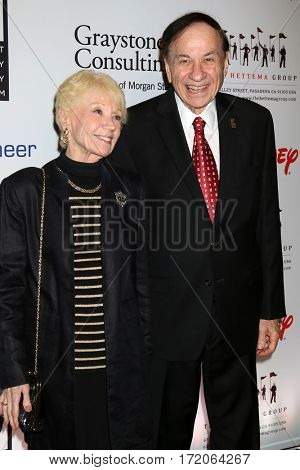 LOS ANGELES - NOV 1:  Elizabeth Sherman, Richard Sherman at the The Walt Disney Family Museum 2nd Annual Fundraising Gala at Disney's Grand Californian Hotel & Spa on November 1, 2016 in Anaheim, CA