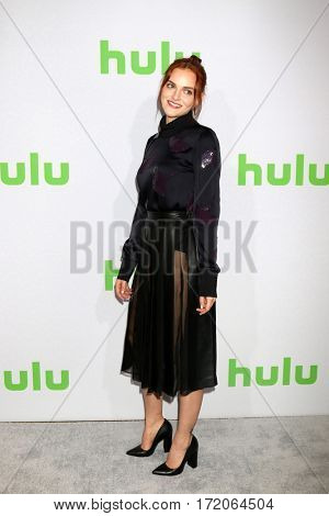 PASADENA - JAN 7:  Madeline Brewer at the HULU TCA Winter 2017 Photo Call at the Langham Hotel on January 7, 2017 in Pasaden, CA