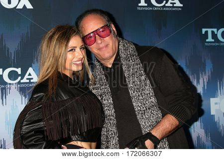 LOS ANGELES - JAN 11:  Valerie Silverstein, Andrew Dice Clay at the FOXTV TCA Winter 2017 All-Star Party at Langham Hotel on January 11, 2017 in Pasadena, CA