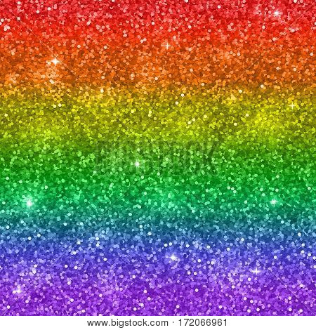 Glitter background, colors of rainbow LGBT. Vector illustration
