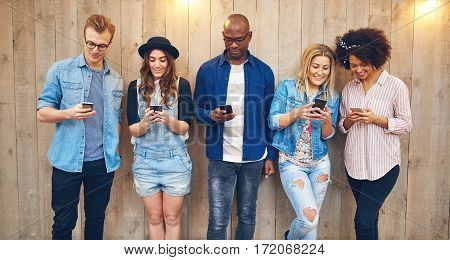 All Staring Into Phones