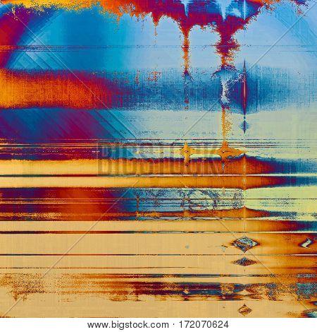 Grunge retro composition, textured vintage background. With different color patterns: yellow (beige); brown; red (orange); purple (violet); blue; cyan