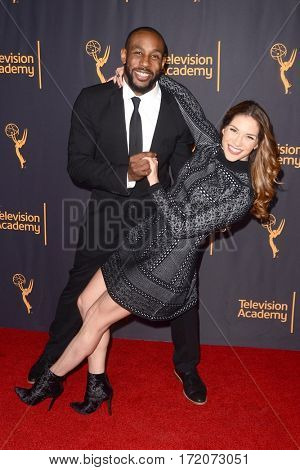 LOS ANGELES - FEB 16:  Stephen Boss, Allison Holker at the Whose Dance Is It Anyway? Event at the ATAS Saban Media Center on February 16, 2017 in North Hollywood, CA