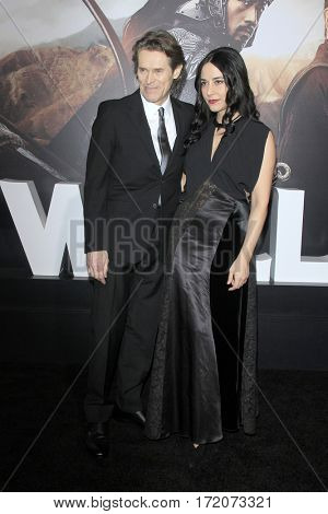 LOS ANGELES - FEB 15:  Willem Dafoe, Giada Colagrande at