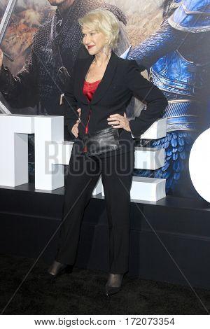 LOS ANGELES - FEB 15:  Helen Mirren at